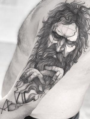 Interpretation of Kronus God of time (Greek mythology). Thanks bru!! 🙏🏽 . . . . . . . Appointments/Citas: anibalbookings@gmail.com . . . . . #fineart #sketch #blackworkershero #inkstinctsubmission #blackworkerssubmission #instasrt #artwork #tattooinkspiration #tattoo #arts #TATTOOTODO #anibal_tattoo #tattooartist #blxink #stabmegod #cdmx #bogota
