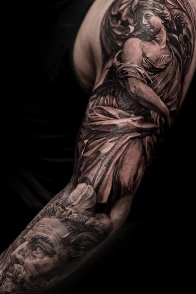 #poseidon #greekgod #zeus #hera #tattoo