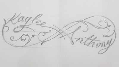 Custom designs available. PayPal available #custom #infinity #drawing #names #sketch #filagree