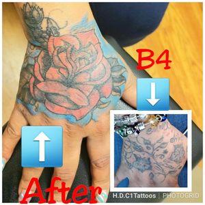 #tattoodoer #tattoolovers #tattoo #tattoosbyH #tattooartist #baltimoreartist #baltimoreink #baltimoretattooartist #inkslinger #inked #blackgirlslovetattoos @blackgirlslovetattoos #inkedgirls #hdc1tattoosandesigns #flowertattoo #rosetattoo #tattoocoverup