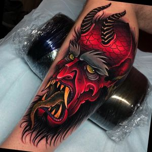 Demon on the whole calf