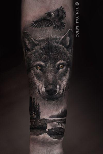 #wolf #forest #raven #dark #horror #elensoul
