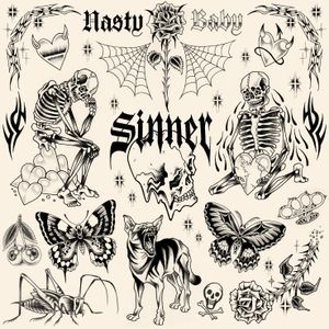 SINNER/ New flashs available. #tattooflash #flashtattoo #blackwork #blackworktattoo #dark #skeleton #heart #butterfly #skull #tribal #rose #dog #fineline #paris #paristattoo