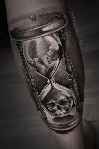 #deathandlife #child #death #skull #clock #sandclock #elensoul