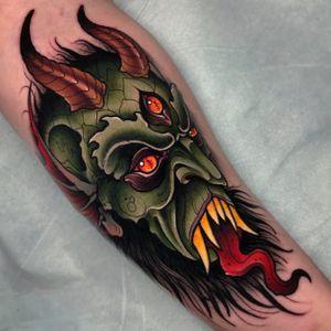 Demon on the forearm