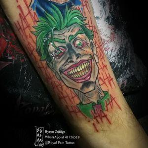The Joker #royalpaintattoo #byronzuñiga #geektattoo #comictattoo #guatemala #dccomics