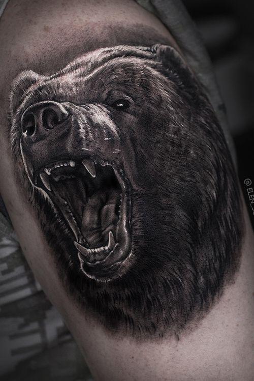 #blackandgray #bear #dark #elensoul