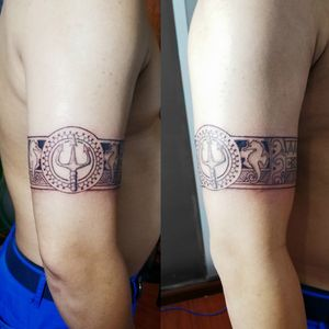 #band #tattoo #biceptattoo