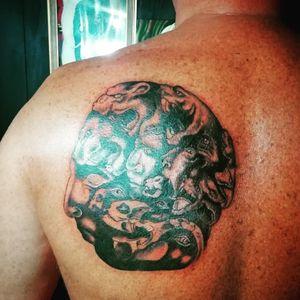Thank you my customer. 🙏 🙏🙏🙏🙏🙏🙏🙏 #art #artwork #artist_community #tattoo #tattoos #tatuaje #tattooart #tattooartist #ink #inked #potn #potd #bangkok #udomsuk #asiantattoo #asianart #head