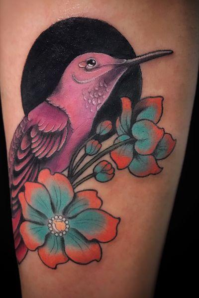 Original Design. #neonouveau #artnouveau #artnouveautattoo #neotradi #neotraditionalworldwide #neotraditionaltattoo #neotradstyle #neotraditional #neotrad #tattooart #birdtattoo #bird #hummingbird #hummingbirdtattoo