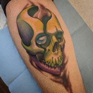 Skull from my flash book #yeg #yegarts #tattoo #edmonton #neotraditional #newschooltattoo #edmontontattoo #edmontontattooartist #neotradsub #yegtattoo