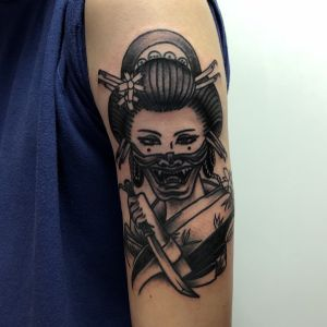 Geisha #geisha #japan #blacktattoo #blackwork