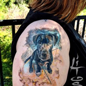 Family Pet Memorial Portrait. An Honor to do this types of personal tattoo projects.