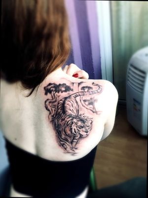 Tattoo#backtattoo#tiger#blackandgray#killerink