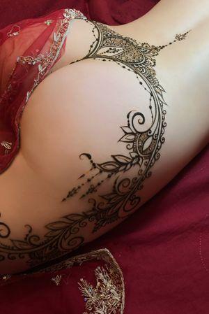 Erotic HENNA tamporary tattoo belt by MariaM.