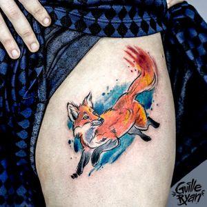 @guilleryan.arttattoo guilleryanarttattoo@gmail.com #fox #cutetattoos #sketchtattoo #watercolor #watercolorartist #watercolortattoo #watercolorph #watercolorillustration