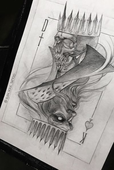 #design #death #king #dark #horror #gohic #cards #deathandlife #skull #elensoul