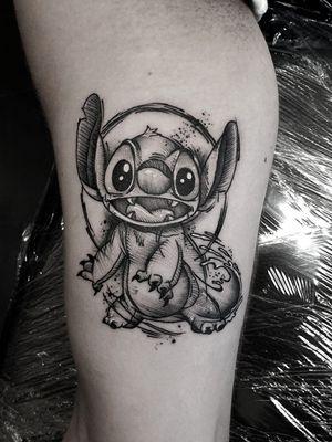 #kuro #kurotrash #tattoo #tattooing #tattoos #tattooed #tattooer #black #blackandwhite #blackwork #blackworkers #ink #inked #onlythedarkest #blackink #tattooart #tattooartist #vienna #wien #sketchy #sketching #sketch #blackink #cartoon #disney #stitch #ohana #comics #tattooartist #tattoolife