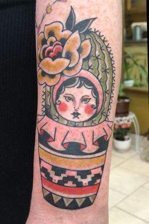 Cactus Russian Doll - top forearm