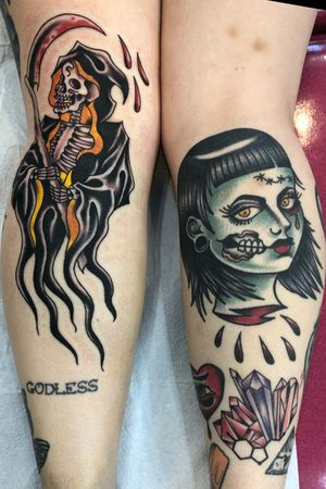 Reaper fresh- knee ditch, punk lady and crystals healed