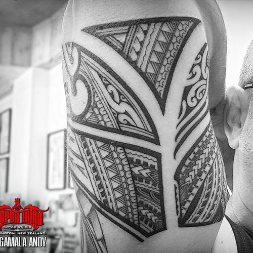 Mixed #polynesian biceps filler