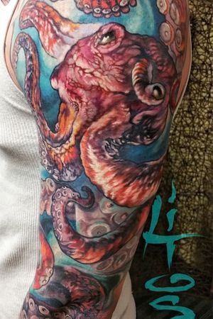 Full sleeve octopus color tattoo project. Really Love to do these types of projects. Contact me for yours at litosart1@gmail.com