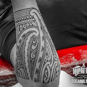 Mixed #maori #kirituhi #samoan forearm band.