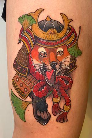 #korea #insta #foxtattoo #samurai #samuraitattoo #seoul insta sini__tattooer e-mail ancg6169@naver.com