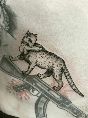 #cat #engraving #midevil #femaletattooartist