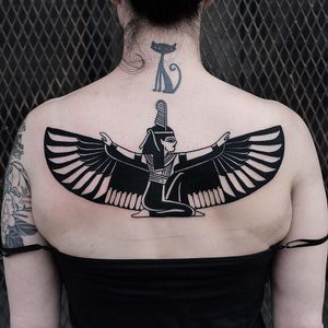 Egyptian tattoo by The Wolf Rosario #TheWolfRosario #egyptiantattoo #egyptian #egypt #ancientegypt #culture #ancient #legend #history