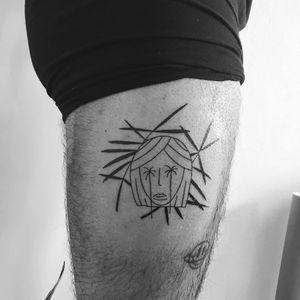 Ignorant style tattoo by Salucafarte #Salucafarte #ignorantstyletattoos #ignorantstyle #ignorant #illustrative #drawing #sketch #funny #blackwork