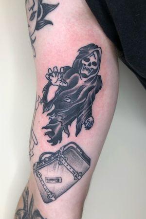 Little Ghoul #ghoul #blackwork # traditionaltattoos #tattoos #oldschool #boldwillhold #bristoltattooclub #worthingtattoo #blindfaithtattoo #cherryreds