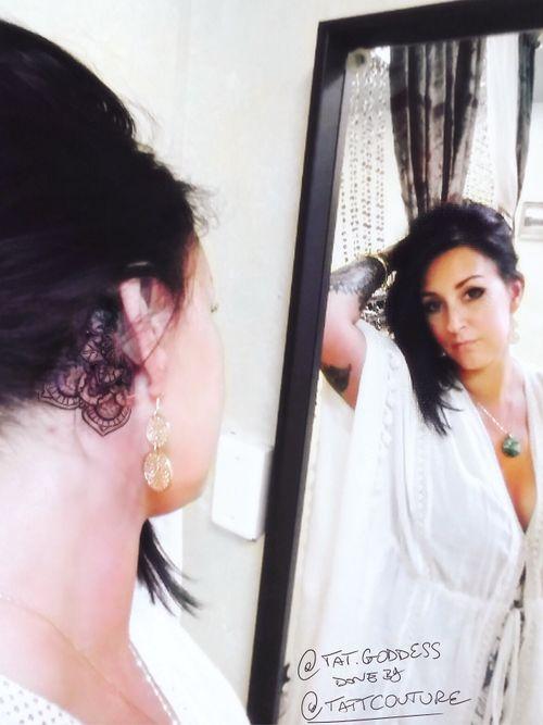 @breathingcanvas @tat.goddess done by @tattcouture #livoniatattooshops #detroittattooartist #detroittattooshop #femaletattooartist #femaletattooer #livoniatattoos #mandalatattoo  #tattoos #eartattoo #behindeartattoo #necktattoo #girlstattoo #girlswithtattoos #neckmandala