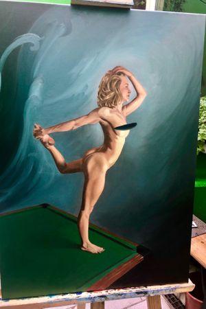 Almost done #oilpaintingart #oilpainting #oil #oiloncanvas #art #portrait #dancer #painting #drawing