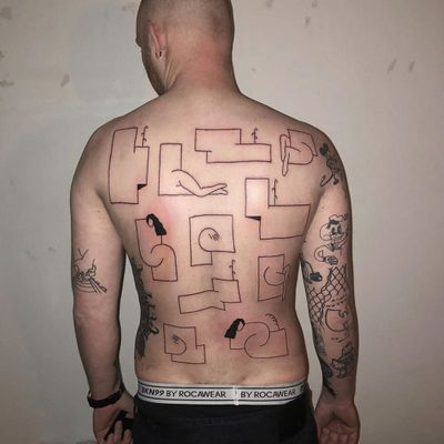 Ignorant style tattoo by 9118 #9118 #ignorantstyletattoos #ignorantstyle #ignorant #illustrative #drawing #sketch #funny #blackwork