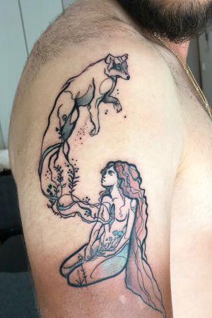 #wolftattoo #wolf #woman #wolfspirit #spirit #freespirit #customdesign