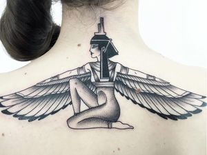 Egyptian tattoo by Guen Douglas #GuenDouglas #egyptiantattoo #egyptian #egypt #ancientegypt #culture #ancient #legend #history