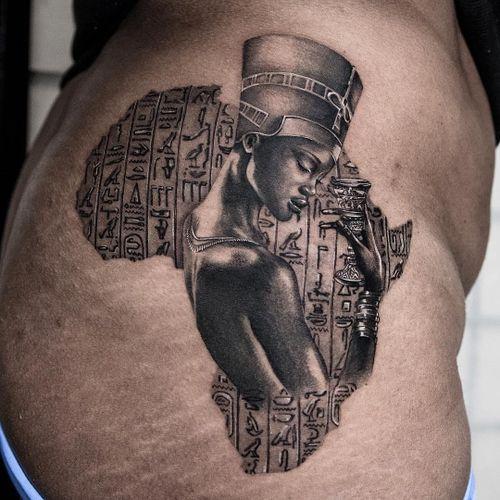 Egyptian tattoo by Natashia Art Muse #NatashiaArtMuse #egyptiantattoo #egyptian #egypt #ancientegypt #culture #ancient #legend #history