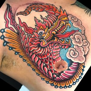 #polinesiandragon #dragonhead #miamitattoos
