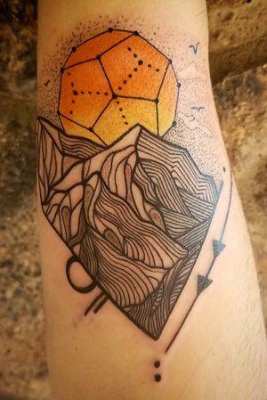 Geometric mountain scape