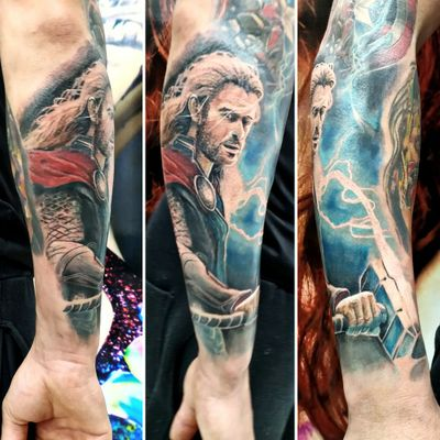 #thor #tattoothor #Tattoodo #MarvelTattoo #marvel #tattoorealistic #tattoorealism #tattoorealismo