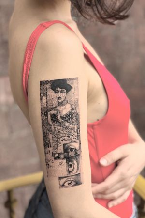 For you: Adele Bloch-Bauer. -Klimt . . . . . . Appointments/Citas: anibalbookings@gmail.com . . . . . #fineart #sketch #blackworkershero #inkstinctsubmission #blackworkerssubmission #instasrt #artwork #tattooinkspiration #tattoo #arts #TATTOOTODO #anibal_tattoo #tattooartist #blxink #stabmegod #cdmx #bogota