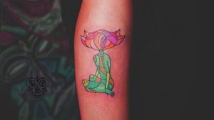 Girl blooming #girl #woman #female #flower #bloom #color #colorful #body #pose #green #pink #red #rose #arm #vsyoba #tattoo #ink #cute #beauty #grown #love