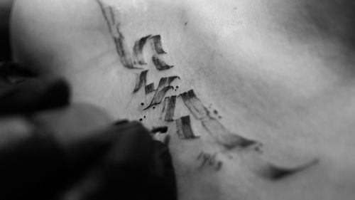 Calligraphy tattoo by @pocketski  #calligraphy  #lettering