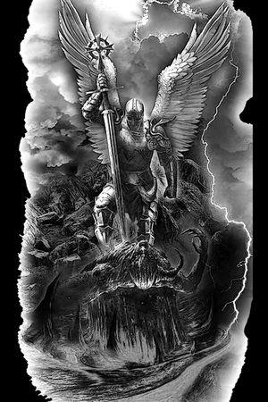 st michael the archangel slays demon