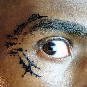 Around the eye tattoo  #eye #tattoo #eybrow #face #facetattoo #detail #tribal #design #fragments #vsyoba