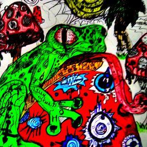 #amphibien #frog #mushrooms #psychedelic #