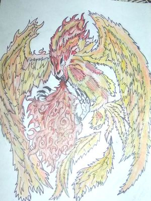 #mithical #pheonixtattoo #badass #fire #beast #moltres