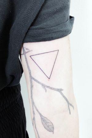 Simple fine line triangle