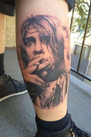 Kurt Cobain. I love doing black and gray portraits